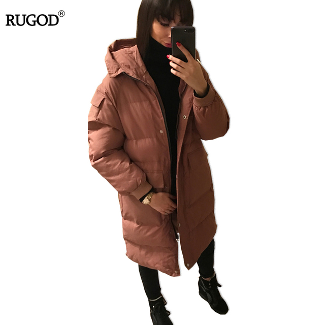 Oversized Hooded Parkas for Womens Coats and Jackets Manteau Femme Cotton Padded Female Winter Outwear  Big Pockets Loose Design