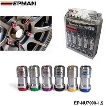 M12 X1.5 أصيلة EPMAN البلوط ريم سباق العروة عجلة المكسرات المسمار 20 قطعة سيارة لتويوتا ل VOLK EP NU7000 1.5
