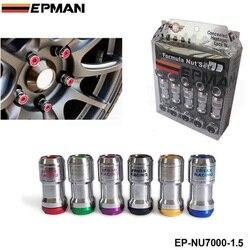 M12 x1  5 autentyczne EPMAN ACORN RIM Racing Lug nakrętki koła śruba 20 sztuk samochodów dla Toyota dla VOLK EP-NU7000-1.5