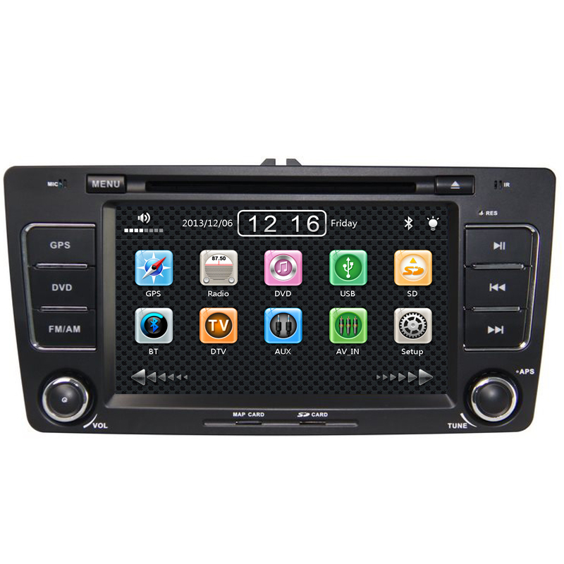 7 inch Car DVD SKODA Octavia II A5 / SUPERB B GPS+BT+FM+IPOD+ATV+3G+free 4G SD card map - Good partners Store store