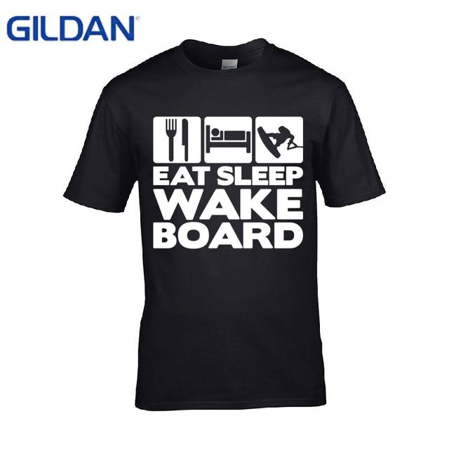 1b3094ab3 Western Style Logo Easleep Wakeboard Graphic t shirt men Fashion 100%  cotton tshirt men short sleeve S-4XL Tee tops t-shirt men