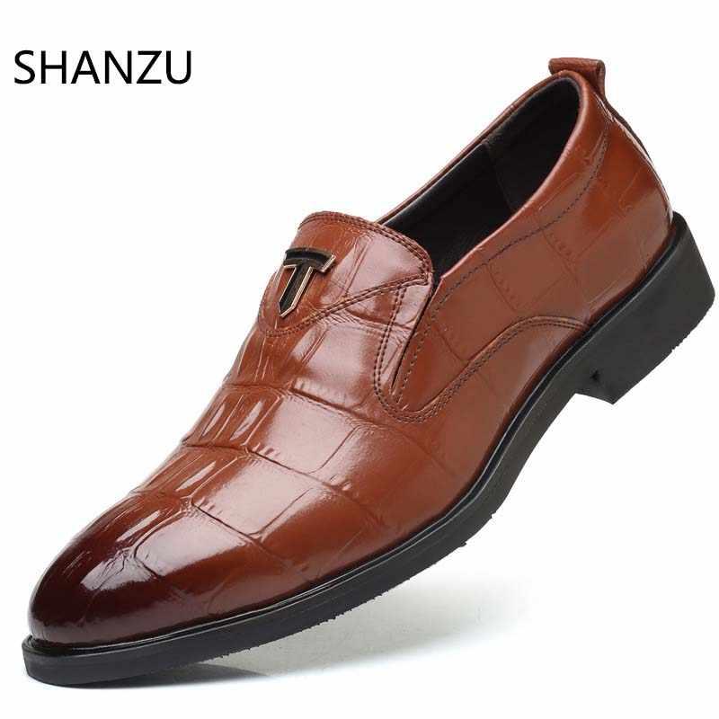 3459a7907 Итальянская мода Для Мужчин's Повседневное ручной работы из крокодиловой  кожи обувь платье в деловом стиле костюм