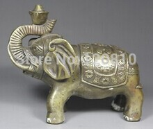 CHINESE HANDWORK ELEPHANT OLD COPPER STATUE