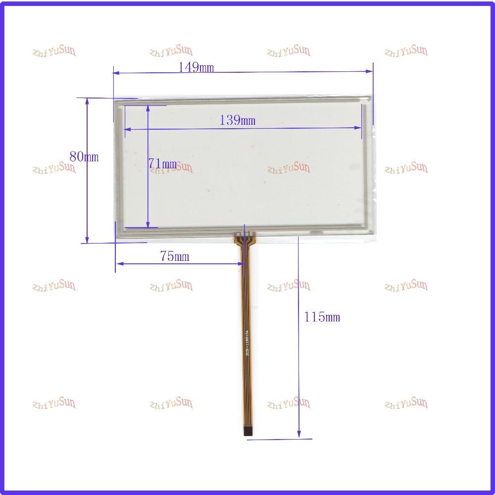 ZhiYuSun use JVC KW-AV50 149*80 NEW 6 inch 149mm*80mm 4 wire Universal LCD Touch Screen Panel Digitizer CAR GPS zhiyusun 226 173 touch screen use lcd display and commercial new 226mm 17mm sensor 10 4 inch 4 wire