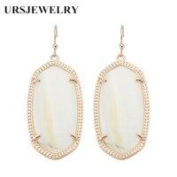 Мода KS Elle белый жемчуг полудрагоценный камень себе Серьги современные ювелирные изделия для Для женщин оптовая продажа подарок