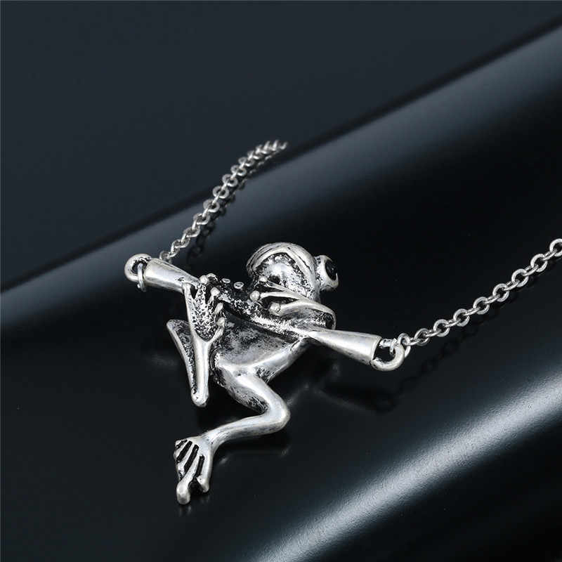 3D Handmade Vintage Animal Necklace For Women Antique Silver Frog Bulldog Chihuahua Yorkshire Pet Dog Pendant Necklace Men
