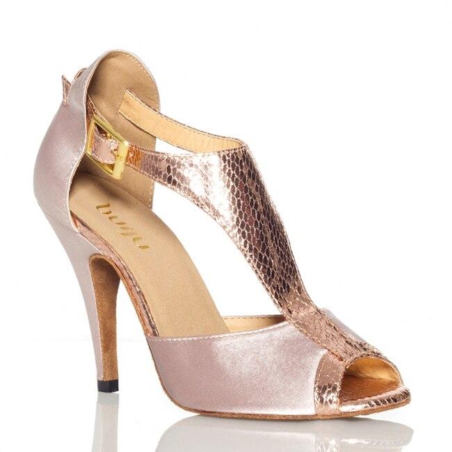 c27dd506 Gris de las mujeres zapatos de baile latino de tacón alto 8,5 cm salón de baile  zapatos de baile Salsa Samba Tango zapatos de baile cuadrados zapatos