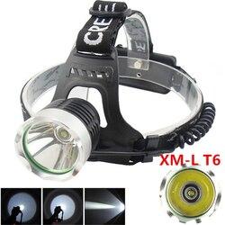 Camp XML T6 Headlamp LED Headlight High Power LED Head lamp 2000lm Flashlight Head Torch 3 mode