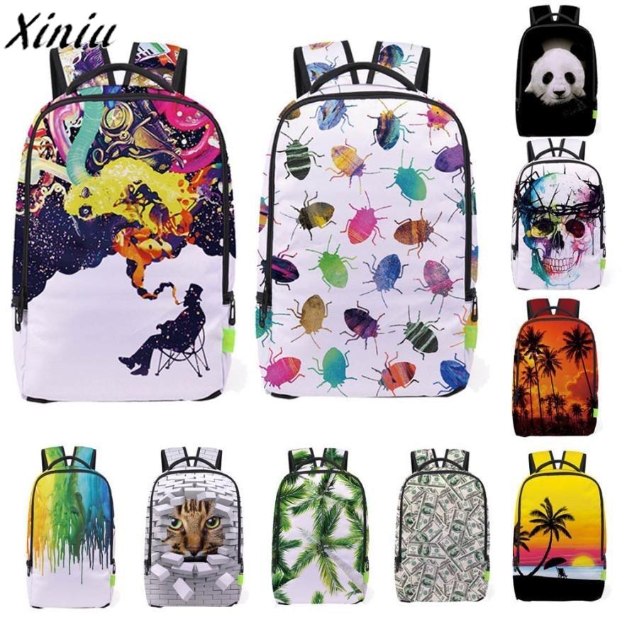 Men Backpack 3D Printing Galaxy Travel Satchel Rucksack Bagpack Students Large Bookbag School Bag Mochilas Escolares *7719