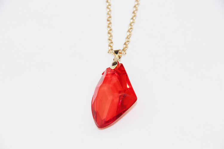 ZRM Fashion Movie Charm Sorcerer Philosophers Magic Stone Necklace Red Acrylic Pendant HP Jewelry For Men Women Gifts