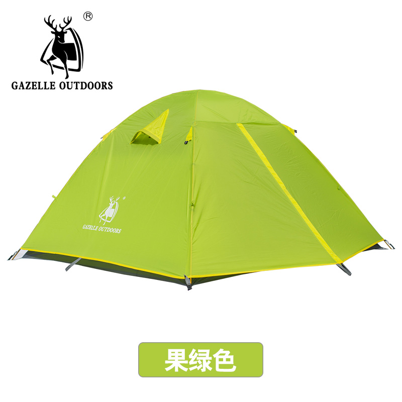 GAZELLE Outdoors NEW Camping Tent Double Layer 2-4 Person Waterproof Outdoor for Hiking Hunting Picnic tent camping tents gazelle outdoors желтый