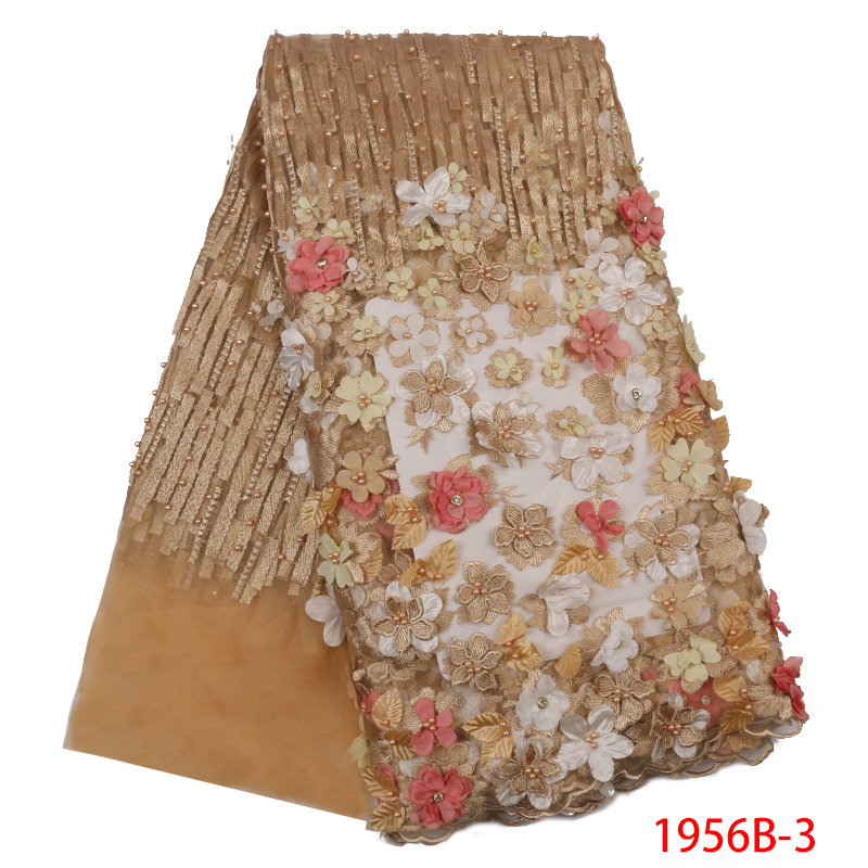 Best Seller Popular French Tulle Lace Applique African 3d