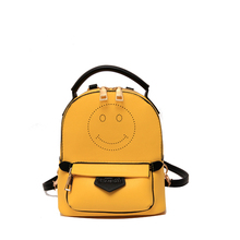 Женская Мода 2017 искусственная кожа emoji рюкзак simlely школьная сумка для девочек путешествия небольшой рюкзак дорожная сумка