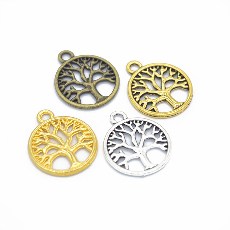 tibetan silver 5 tree of life charms for jewellery making craft or cards
