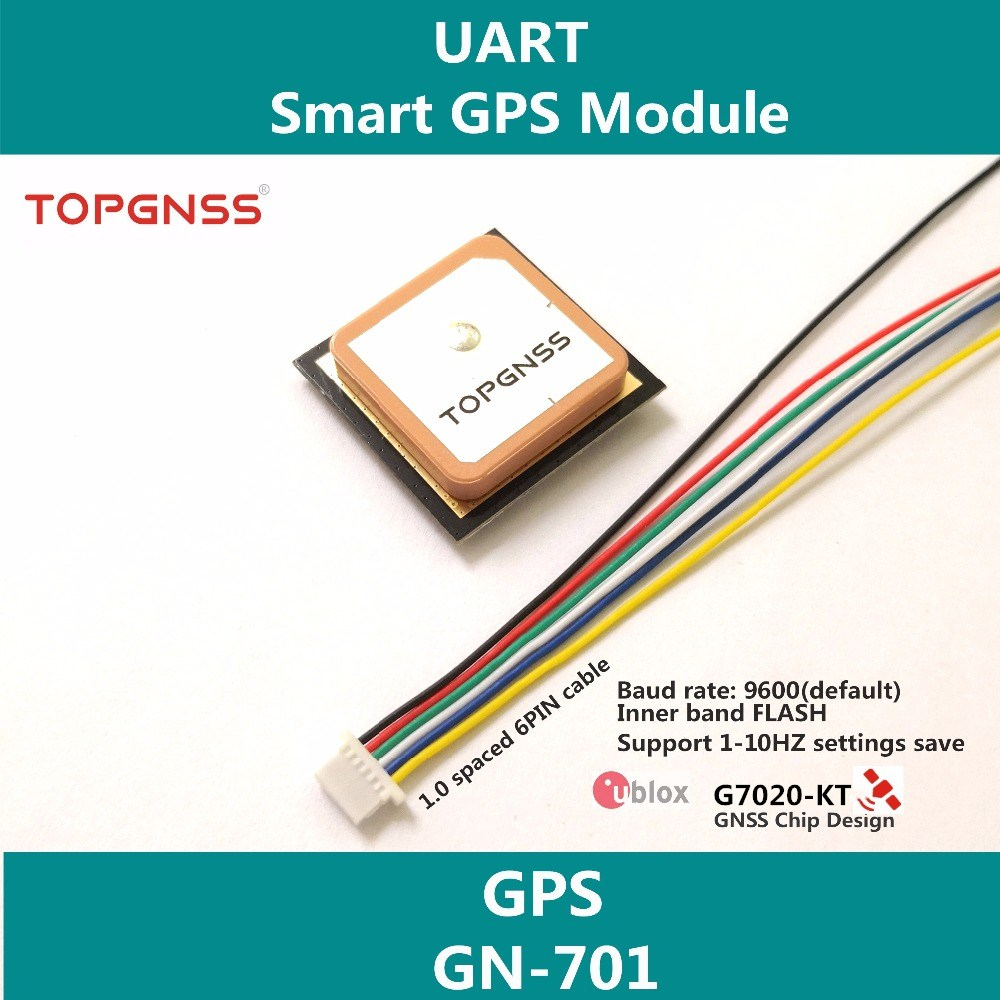UART TTL level GPS module UBLOX 7020 neo-7m-c gnss chip GPS module antenna Promotional built-in FLASH high quality GN-701
