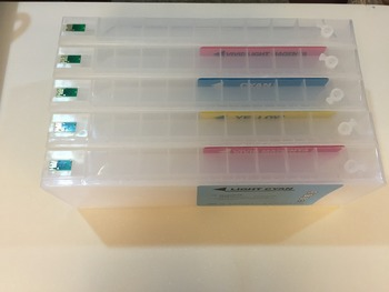 High Quality Refillable Ink Cartridges for Epson stylus pro 9700 7700 ink cartridges 5 colors/set