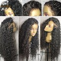 8A Deep Curly Glueless Silk Top Full Lace Wig Brazilia Human Hair Silk Base Wigs Virgin Hair Silk Top Lace Front Wig Black Women
