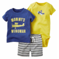 Top quality 3PCS Baby boy Rompers  Summer Baby Clothing Set  Cotton Baby boy Jumpsuit Newborn Baby kids Clothing 2017 Hot