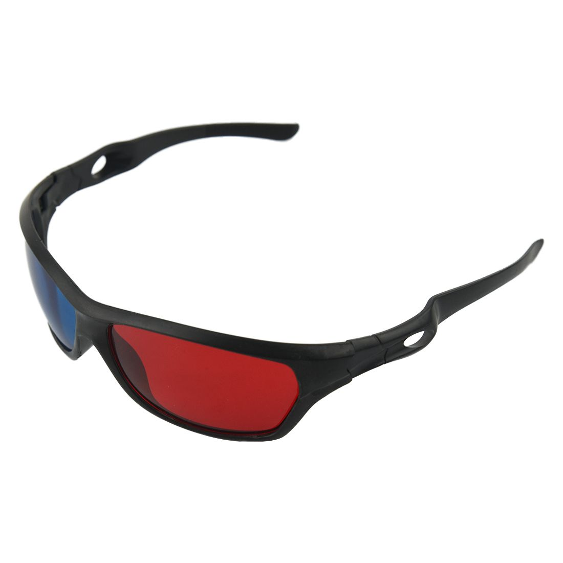 HOT-Fasdga 3D Plastic glasses/VR glasses Red-blue Anaglyph Simple style 3D Glasses 3D movie game (Extra Upgrade Style)