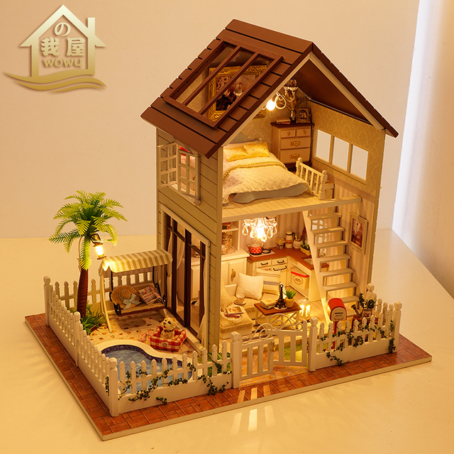 House Gifts diy house paris apartment manual assembling large house toy model