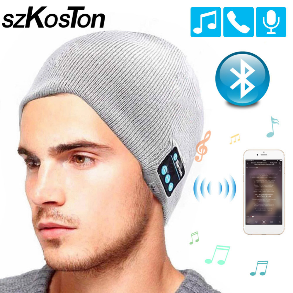 Wireless Bluetooth Headphones Colorful Sport Music Hat Smart Headset Beanie Cap Winter Hat with Speaker Mic for Xiaomi Earphone washable winter men women hat bluetooth beanie with wireless stereo headphones mic hands free rechargeable for mobile phones