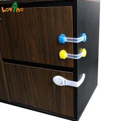 10 шт./лот Пластик Блокировка от детей защиты безопасности ребенка для безопасности окно блокировки дверей замок для холодильника для