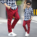 Boys Fashion Solid Trousers Big Size Teenager Clothes Fall Clothing Spring Children Pants 5 6 7 8 9 10 11 12 13 14 15 16 years