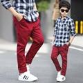 Muchachos de La Manera Pantalones Solid Tamaño Grande Adolescente Se Caen Ropa de Primavera Pantalones de Los Niños 5 6 7 8 9 10 11 12 13 14 15 16 años
