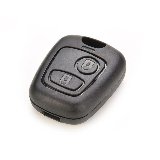 Control remoto llave de coche Fob caso de cubierta de la cáscara de la cubierta de la cáscara de La 1 PC para Peugeot 2 106, 107, 206, 207 307, 406