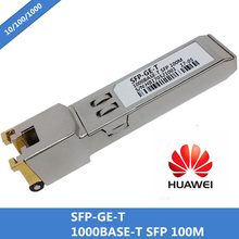 100% neue Kompatibel Für Huawei SFP GE T RJ45 SFP Optic Modul 10/100/100 0BASE T Gigabit RJ 45 Kupfer 100 m