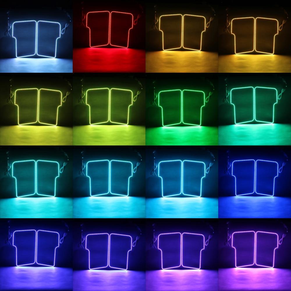 RGB Angel Eyes Multi-warna LED Ring Turnning Light DRL Mobil - Lampu mobil - Foto 2