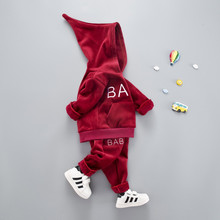 hot deal buy cotton clothing sets active letter thick woolen kid suit children set baby clothing boys clothing girls clothing baby clothes