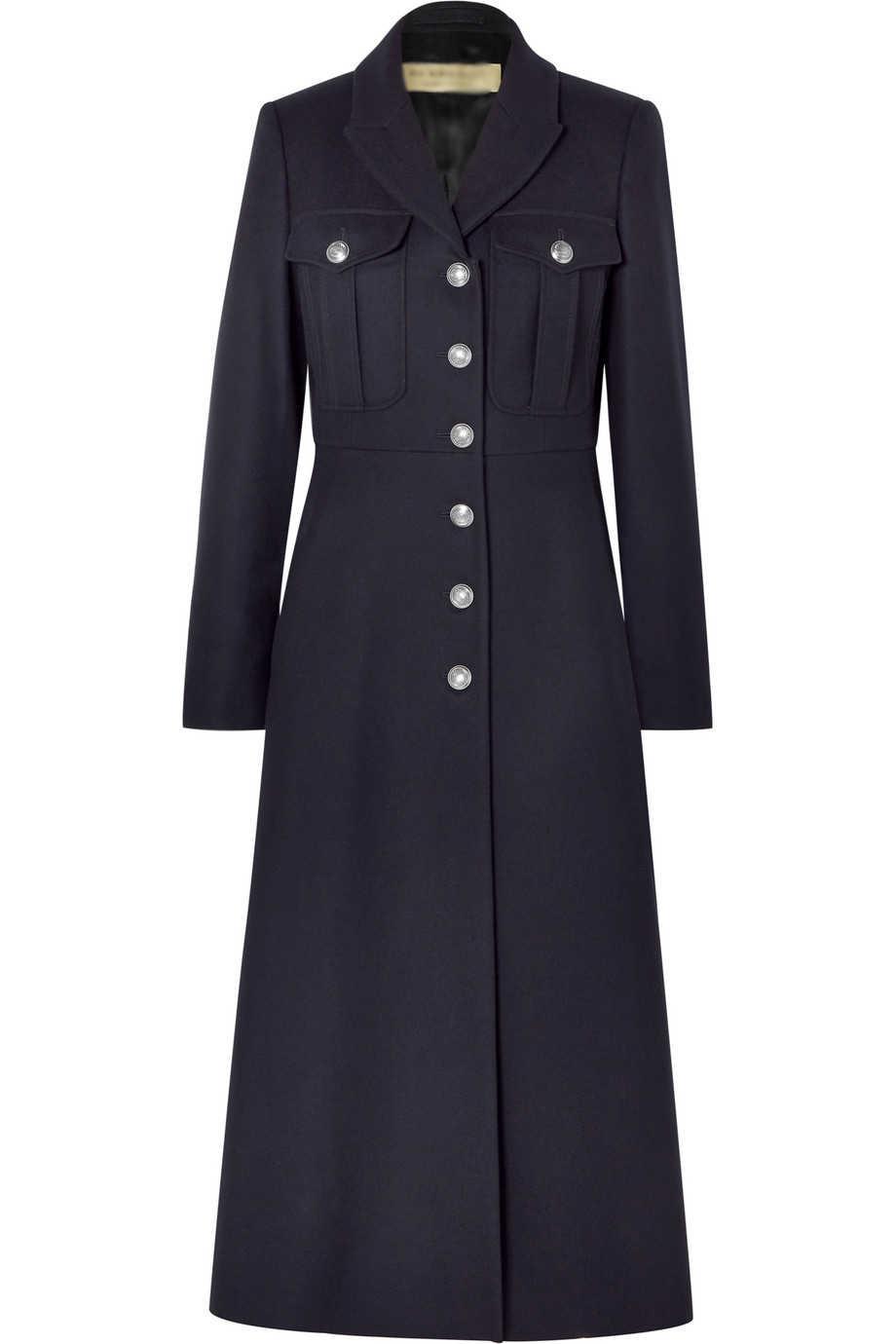 Casaco feminino 2019 UK Vrouwen Plus size Fall Winter Militaire stijl Wollen combineert Lange Jas Vrouwelijke Gewaad Bovenkleding manteau femme