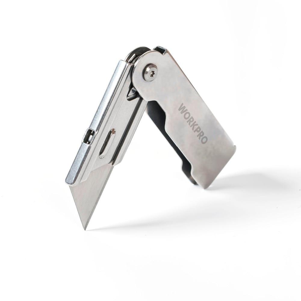 Nůž WORKPRO 3PC skládací nástroj pro nože z nerezové oceli pro - Ruční nářadí - Fotografie 3