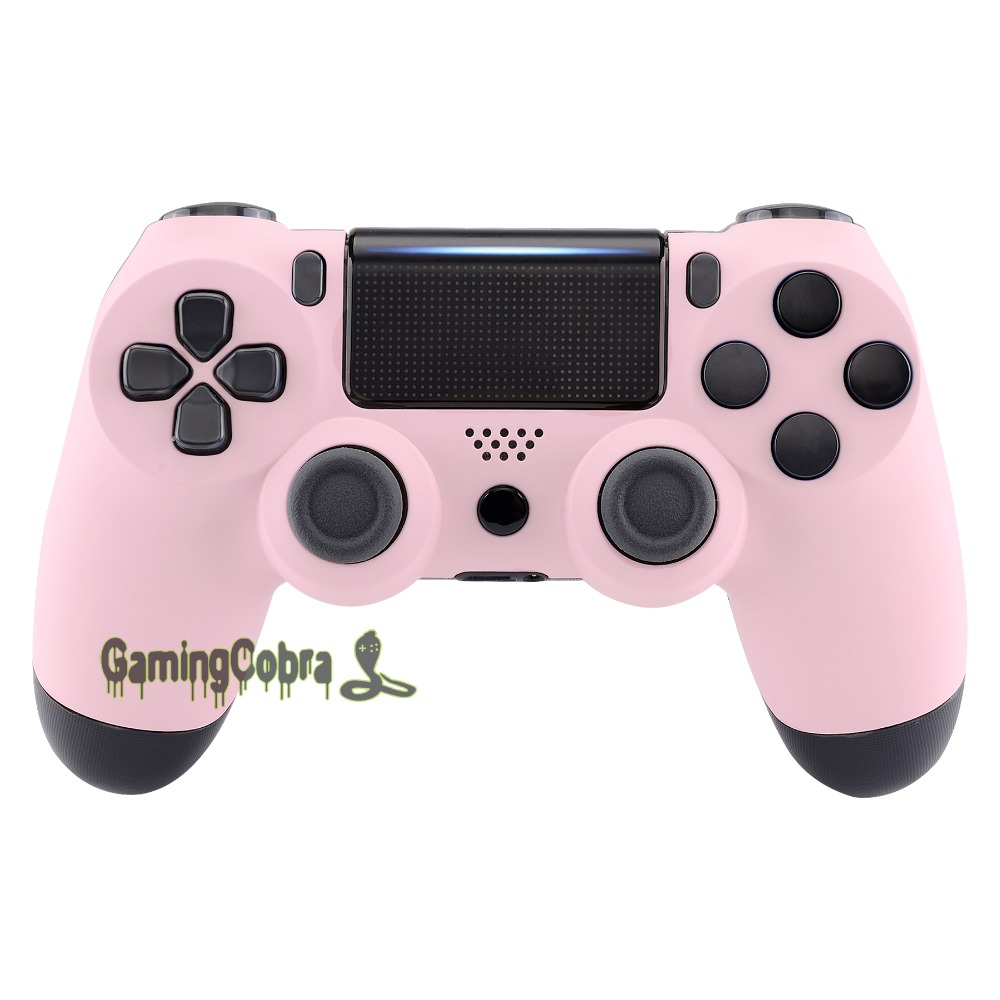 Sakura Pink Soft Touch Faceplate Cover Front Housing Shell Repair Part For PS4 Pro Slim Pro JDM-040 JDM-050 JDM-055 #SP4FX16
