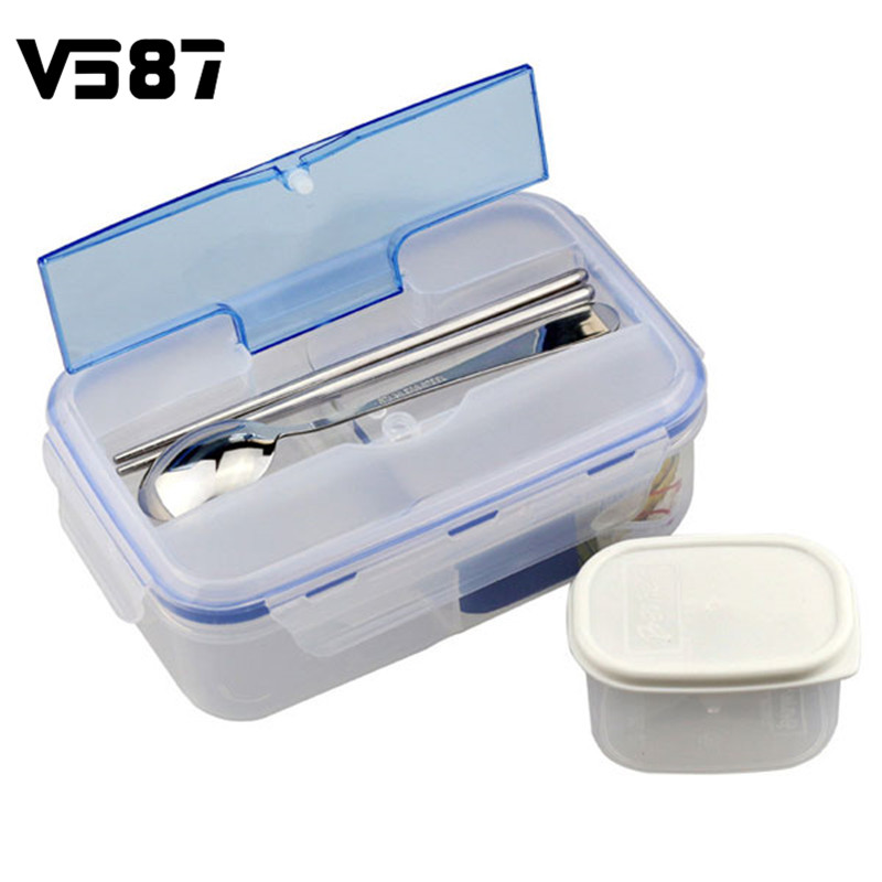 Shop2956126 Store Portable Microwave PP Lunch Box With Tableware MultiCell Large Capacity Bento Box Portable Food Fruits Picnic Holder Container