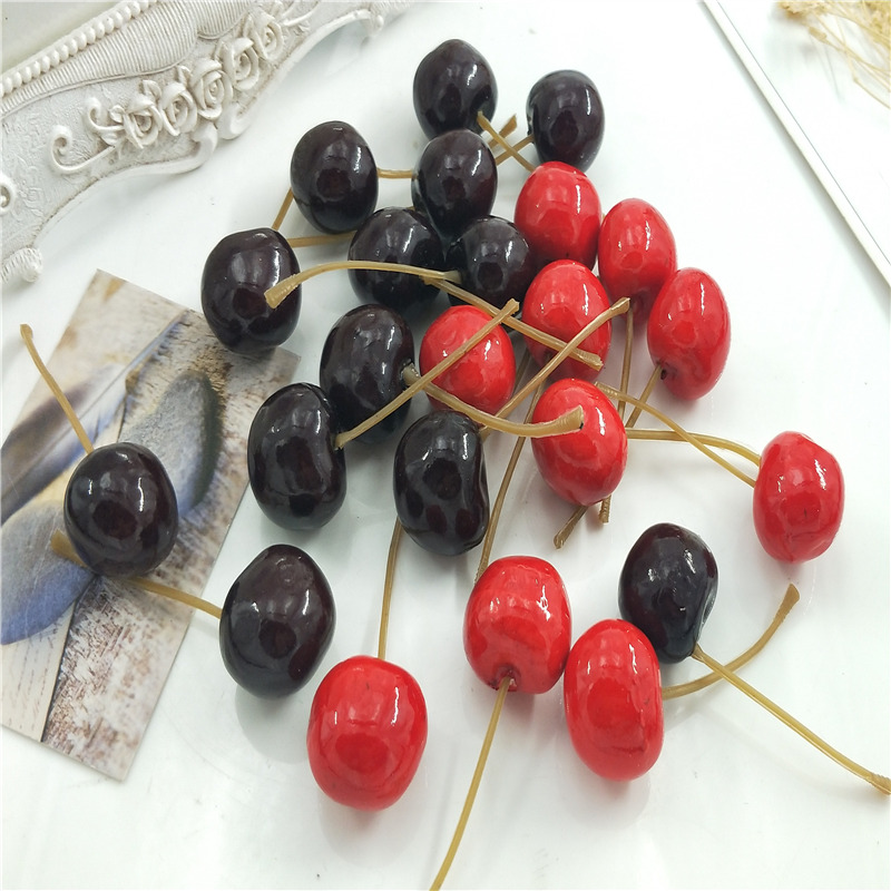 10 pcdCherry party fruits and fake simulation model fruit gardening toys of the house window photo props decorations DIY Gift s10 pcdCherry party fruits and fake simulation model fruit gardening toys of the house window photo props decorations DIY Gift s