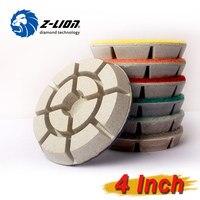 Z LION 7pcs Set 4 Diamond Floor Polishing Pads High Quality White Floor Grinding For