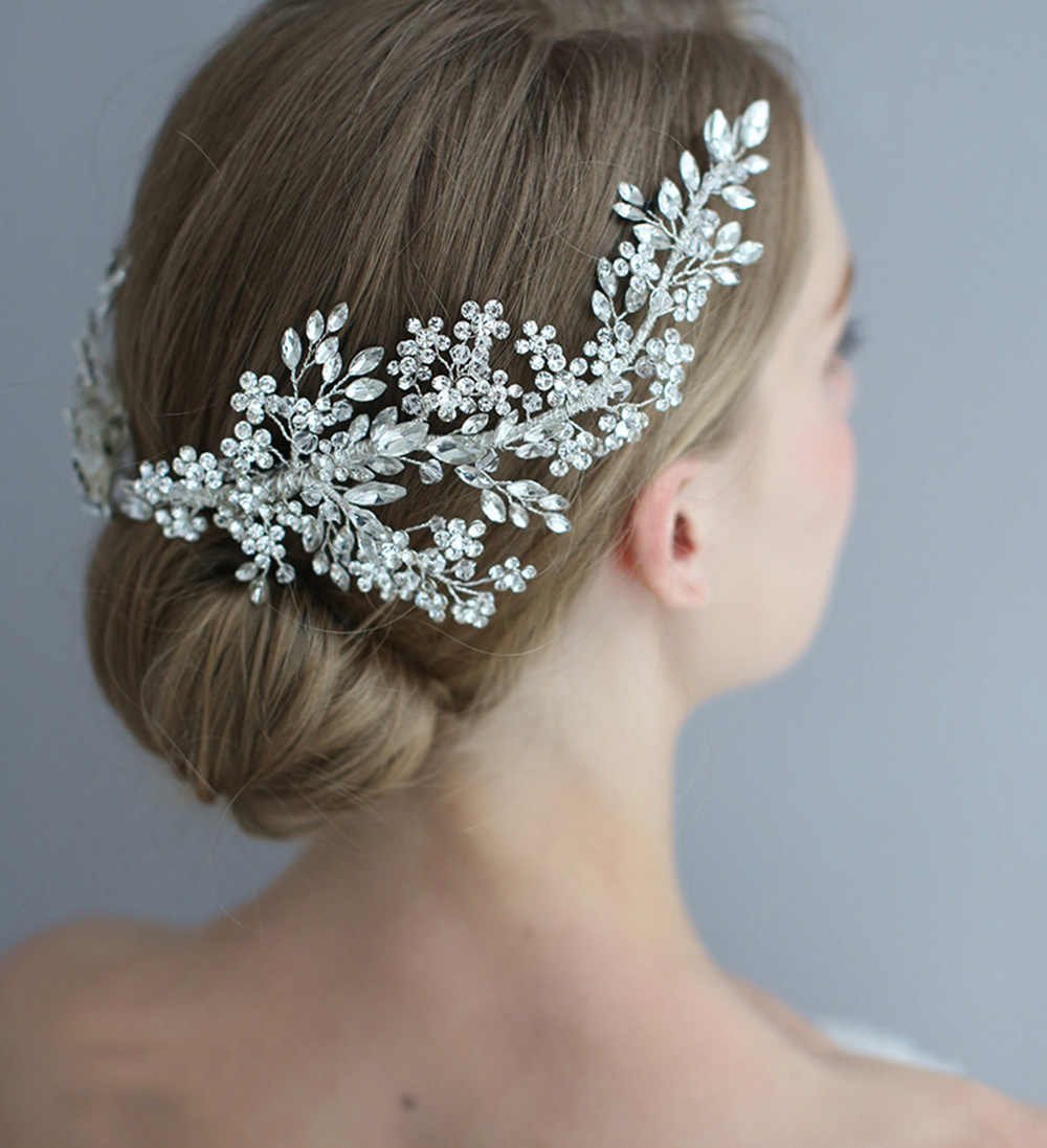 2019 luxurious bridal hair clips crystals dismond wedding headpieces hair jewelry vine clip bride wedding party hair accessories