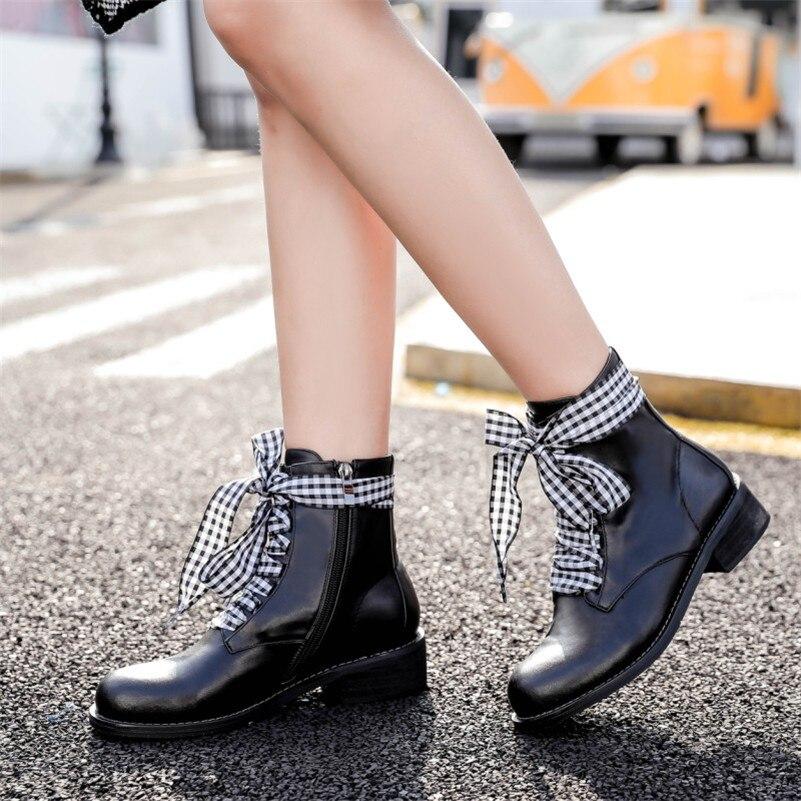 98524433b Moto Cuero De Negro Altos Marca Básicas Tacones Fedonas Mujeres Corto  Invierno Botas Otoño Moda Genuino Martin Mujer Zapatos 6TgXwY