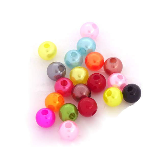 200Pc Mix Color Abs Craft Beads Pearls Simulated Pearl Decoration Materiales Para Artesanias Jewelry Supplies For Jewelry Making