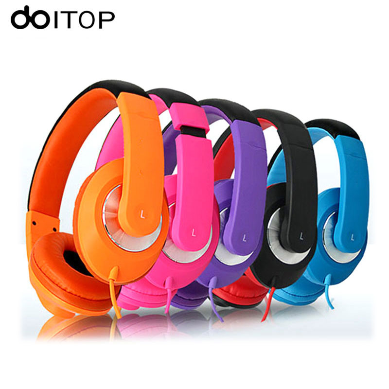DOITOP Universal Stereo Bass Headphones 3.5mm Wired Earphones PC Game Headset With Mic Sports Music Headset For Mobilephone A3