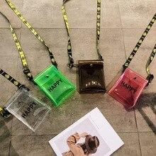 Fashion Simple Letters Mini Zipper Transparent Women Messenger Bags 2019 New Arrival Female Classic Handbags Shoulder Bags