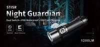 Klarus ST15R USB Charging Flashlight CREE XP L HD V6 max 1200 lumen beam throw 260 meter + 2600mAh battery bike mount Diffuser