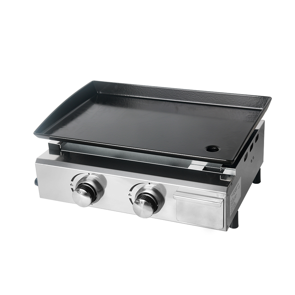 Edelstahl Gas Plancha LPG Griddle Grill 4 Brenner Barbecue Party Camping CE