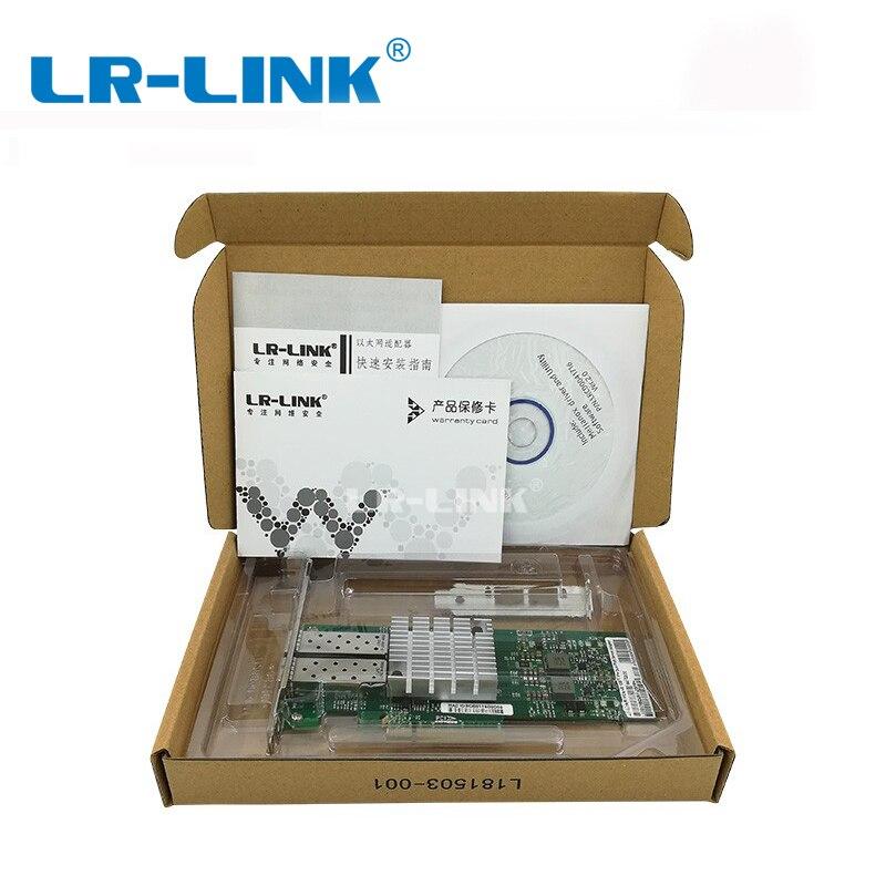 LR-LINK 6822XF-SFP + presenta 10GB NIC Lan Ethernet tarjeta Dual puerto  PCI-Express de fibra óptica