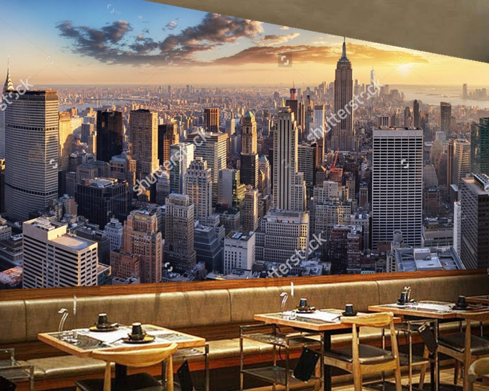 Soggiorno A New York Low Cost | Beibehang Custom Wallpaper Living ...