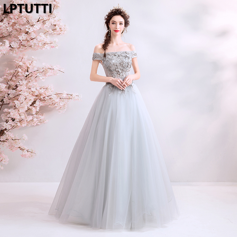 LPTUTTI Beading Embroidery New For Women Elegant Date Ceremony Party Prom Gown Formal Gala Events Luxury Long   Evening     Dresses