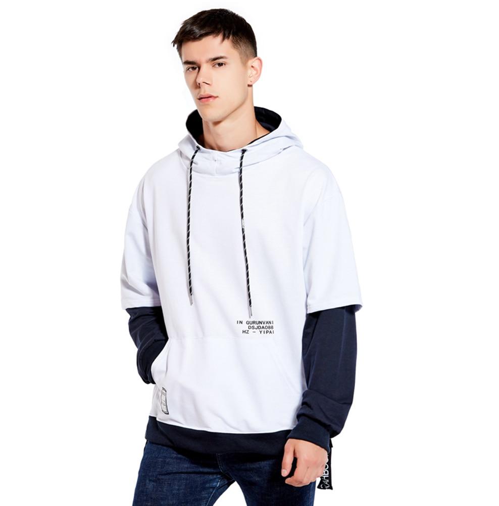 Hoodie Sweatshirt Mens Hip Hop Pullover Hoodies Streetwear Casual Fashion Clothes colorblock hoodie 23