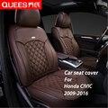 6 Cores Tailor-made Tampa de Assento Do Carro para Honda CIVIC (2009-2016) pu Composto Carro Styling acessórios do carro Protetor